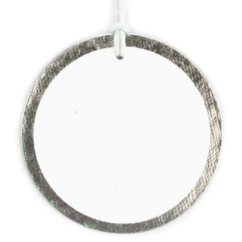Silver Foil Round Tags -  GTRF.00/01