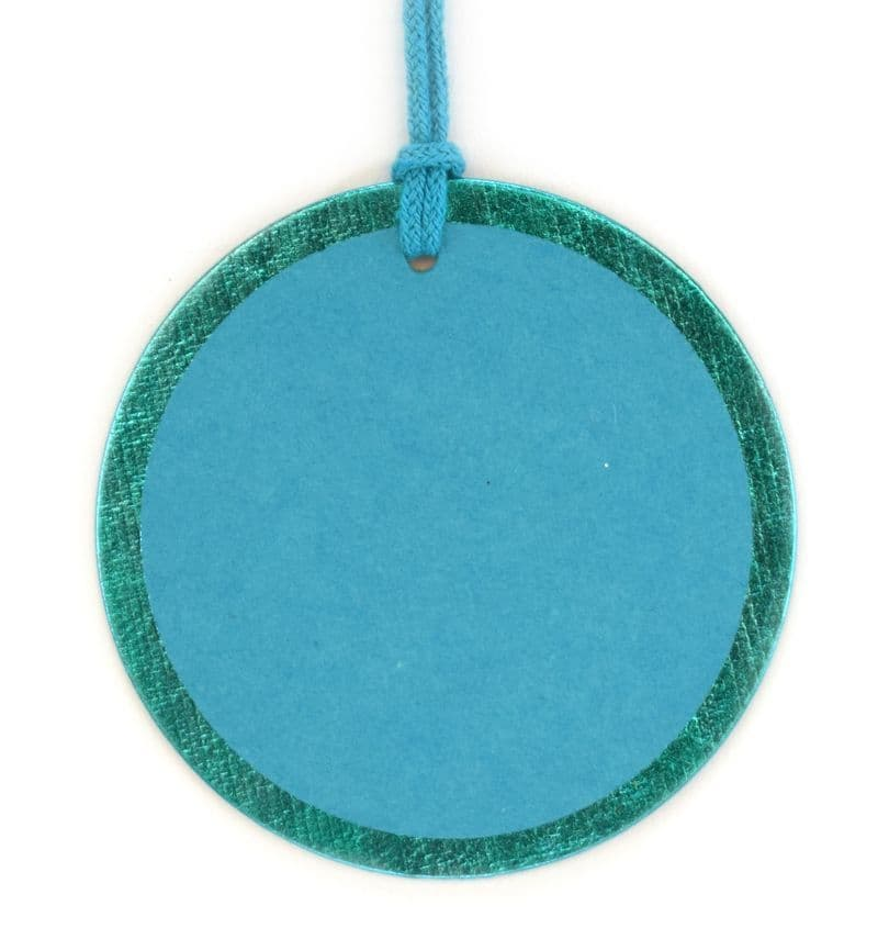 Turquoise Foil Round Tags - GTRF.45/45