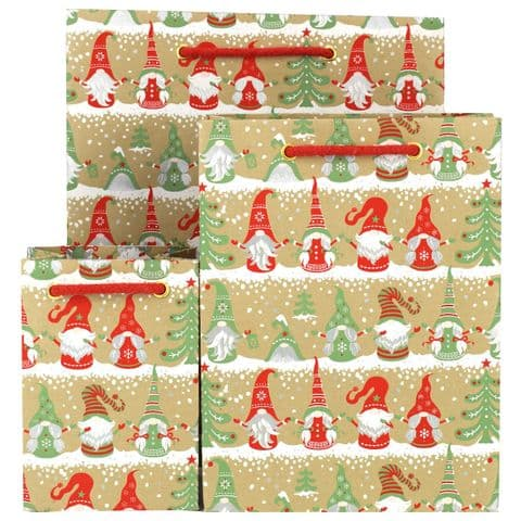 Holiday Gnomes Gift Bags - GBG402.100