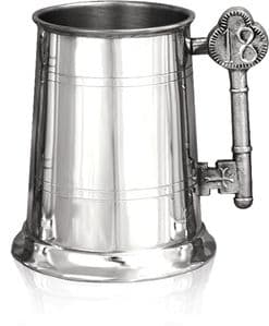 "Birthday ""Key To The House"" Handle Pewter Tankard (1 pint) 18th"