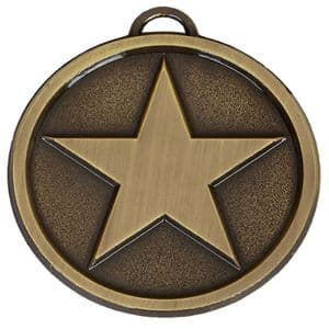 "Bright Star Chunky 50mm (2"") Medal Bronze"