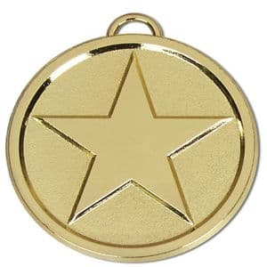 "Bright Star Chunky 50mm (2"") Medal Gold"