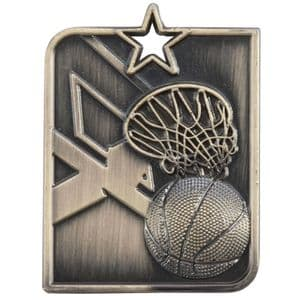 "Centurion Star Series Basketball Medal Gold 53mm (2"") x 40mm (1.6"")"