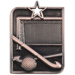 "Centurion Star Series Hockey Medal Bronze 53mm (2"") x 40mm (1.6"")"