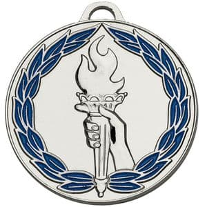 "Classic Torch 50mm (2"") Blue Medal Silver"