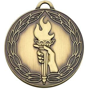 "Classic Torch 50mm (2"") Medal Bronze"