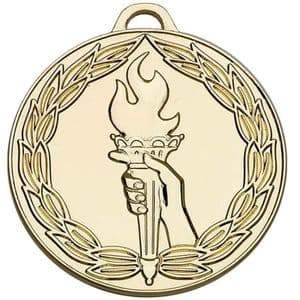 "Classic Torch 50mm (2"") Medal Gold"