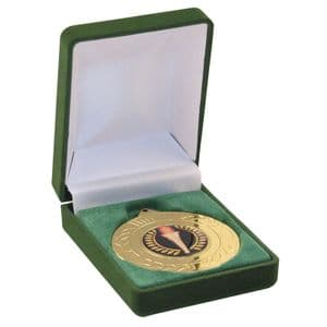 """Deluxe Green Medal Box (40/50mm Recess) 76mm (3"""")"""