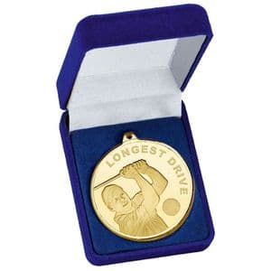 Gold Frosted Glacier Longest Drive Medal 50mm