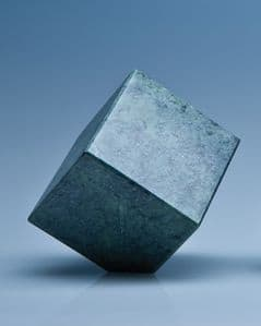 """Green Marble Bevel Edged Cube 70mm (2.75"""")"""