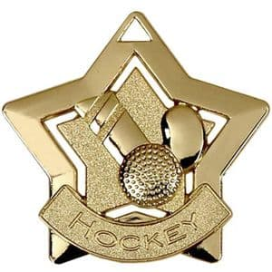 "Hockey Medal 60mm (2.35"") Gold"