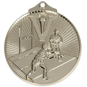 """Horizon Rugby Medal 52mm (2"""") Silver"""