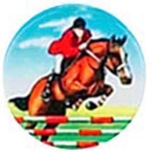 Horse Show Jumping domed acrylic centre 5pcs