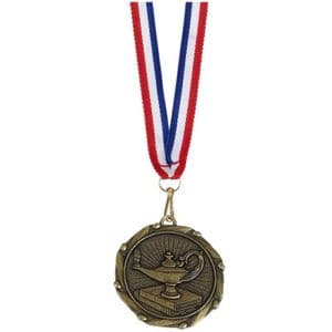 "Knowledge Combo Medal 45mm (1.8"") with ribbon"