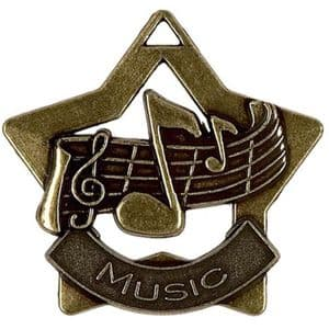 "Music Medal 60mm (2.35"") Bronze"