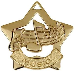 "Music Medal 60mm (2.35"") Gold"