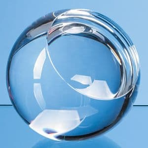 """Optical Crystal Sliced Ball with a Flat Front 60mm (2.4"""")"""