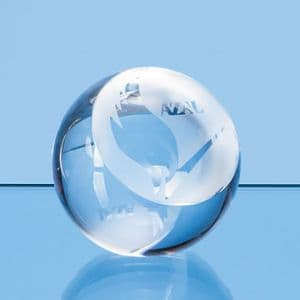 """Optical Crystal Sliced Ball with a Flat Front 80mm (3.1"""")"""
