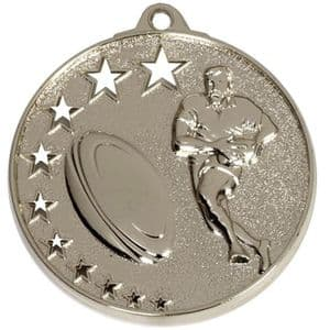 """San Francisco 52mm (2"""") Rugby Medal Silver"""