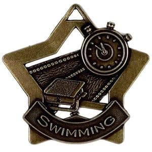 "Swimming Medal 60mm (2.35"") Bronze"