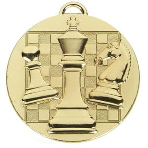 """Target Chess Medal Gold 50mm (2"""")"""