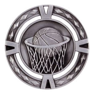 "V-Tech Series Medal - Basketball Silver 60mm (2.35"")"