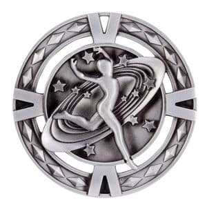 "V-Tech Series Medal - Dancing Silver 60mm (2.35"")"
