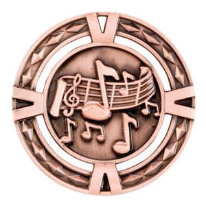 "V-Tech Series Medal - Music Bronze 60mm (2.35"")"