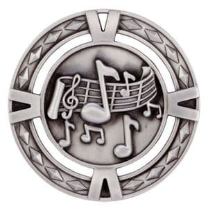 "V-Tech Series Medal - Music Silver 60mm (2.35"")"