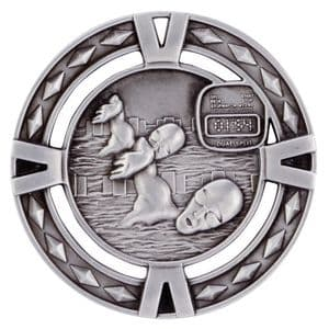 "V-Tech Series Medal - Swimming Silver 60mm (2.35"")"