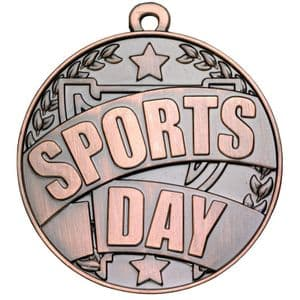 Antique Bronze Sports Day Medal 50mm