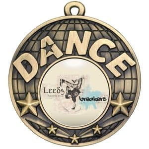 Antique Gold Dance Medal 50mm