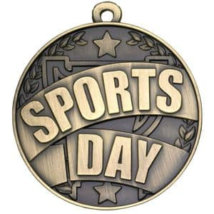 Antique Gold Sports Day Medal 50mm