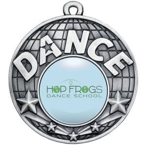 Antique Silver Dance Medal 50mm
