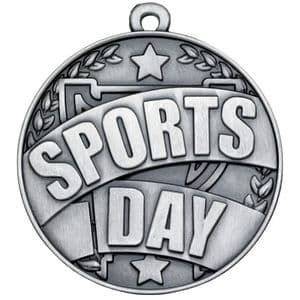 Antique Silver Sports Day Medal 50mm