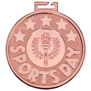 "Aura Sports Day Torch Bronze Medal 50mm (2"")"
