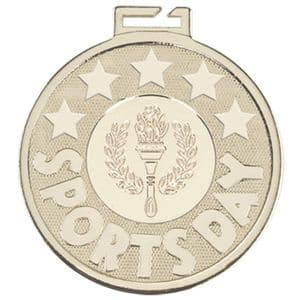 "Aura Sports Day Torch Silver Medal 50mm (2"")"