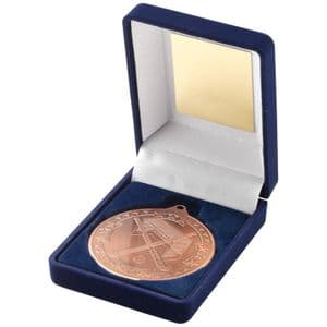 "Blue Velvet Box Medal Hockey Trophy - Bronze 50mm (2"")"