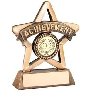 "Brz/Gold Resin 'Achievement' Mini Star Trophy 95mm (3.75"")"