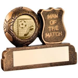 """Brz/Gold Resin Football 'Man Of The Match' Trophy 64mm (2.5"""")"""