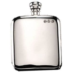 Campbell Classic Pewter Hip Flask 6oz