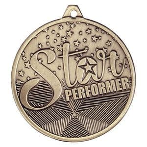 Cascade Star Performer Iron Medal Antique Gold Medal 50mm