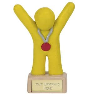 "Clay Medal Winner Yellow 100mm (3.9"")"