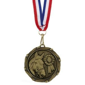 "Combo Horse Medal 45mm (1.8"") with Free Ribbon"