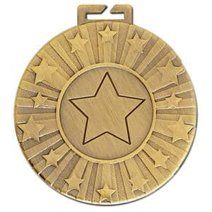 "Cosmos Antique Gold Star Medal 50mm (2"")"