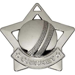 Cricket Medal Silver 60mm Diameter