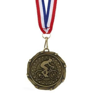 "Cycling Combo Medal 45mm (1.8"") with Free Ribbon"