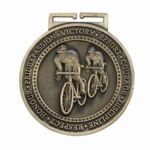 "Cycling Gold Olympia Medal 60mm (2.35"")"