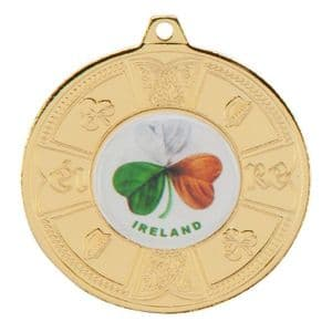 """Eire Medal Series  Gold 50mm (2"""")"""