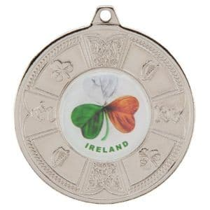 """Eire Medal Series  Silver 50mm (2"""")"""